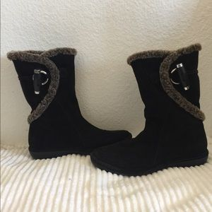 Stuart Weitzman Faux fur suede boots
